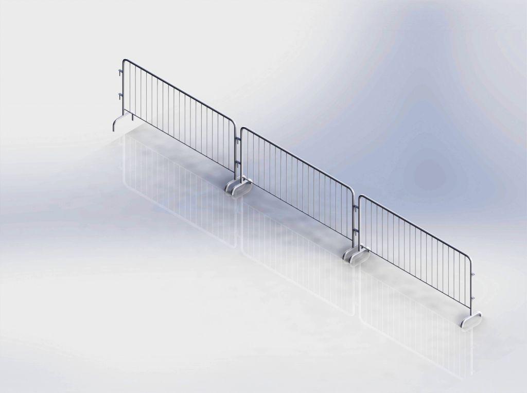 crowd control steel barrier ( hot dip galvanized )