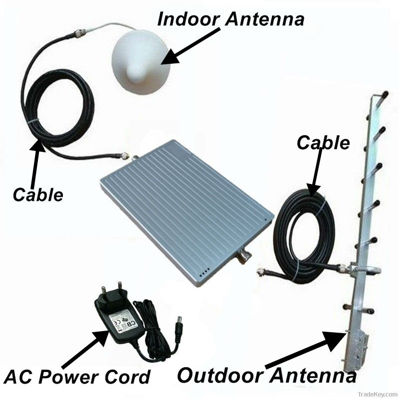 Mobile Signal booster tri-band 900/1800/2100MHz GSM/DCS/WCDMA Repeater