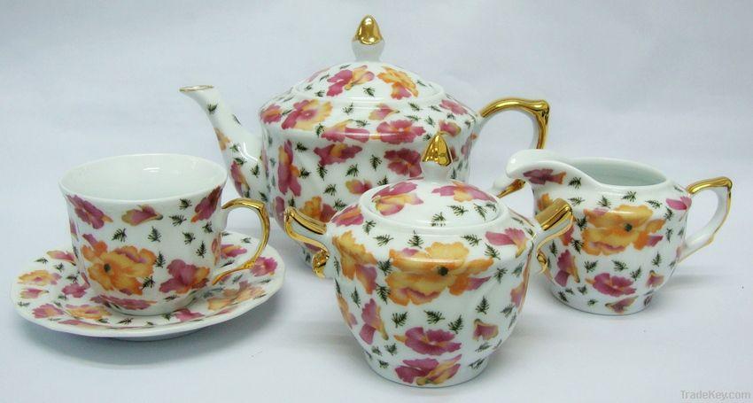 15pcs porcelain tea set