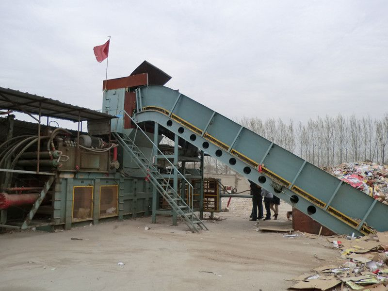 automatic waste paper baler with high capacity