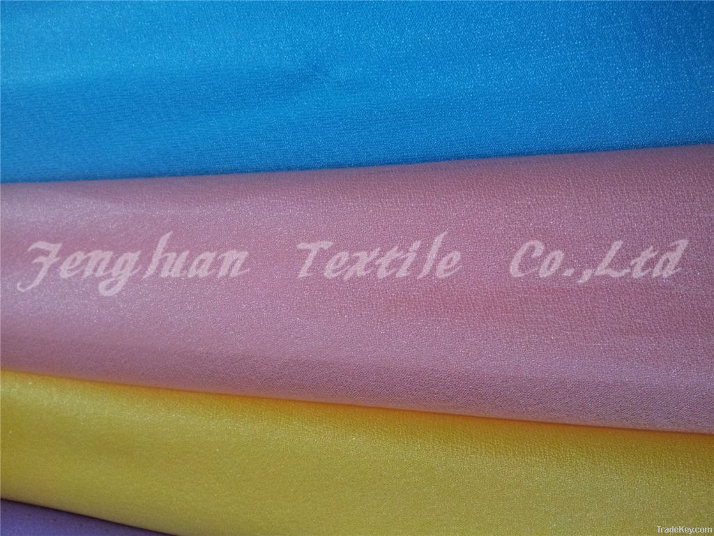 knit chiffon fabric plain dyed 100%polyester