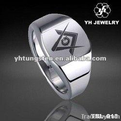 Tungsten carbide Masonic ring, Tungsten Masonic ring, Special Shape Ring
