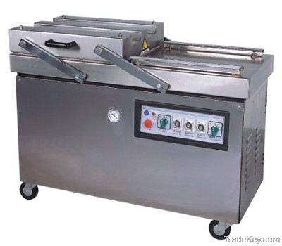 Multi-function double chamber vacuum packing machine for meat