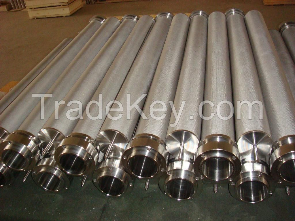 Stainless steel sinted mesh filter element