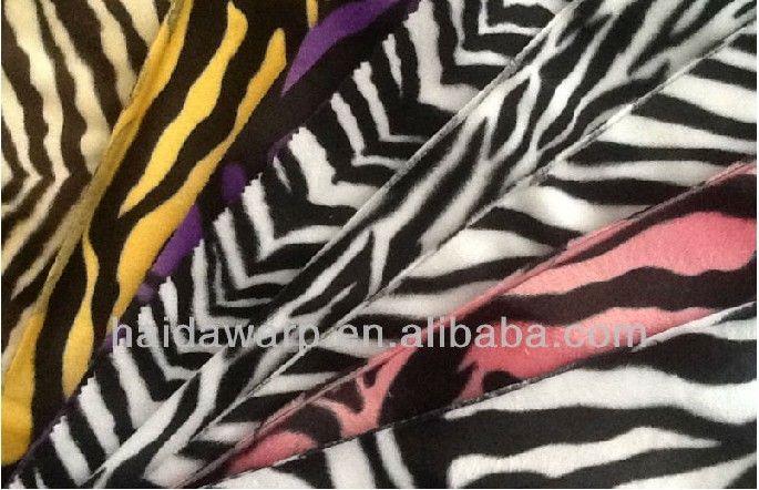 animal printed velboa