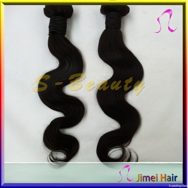 unprocessed no tangle virgin human indian body wave hair weft