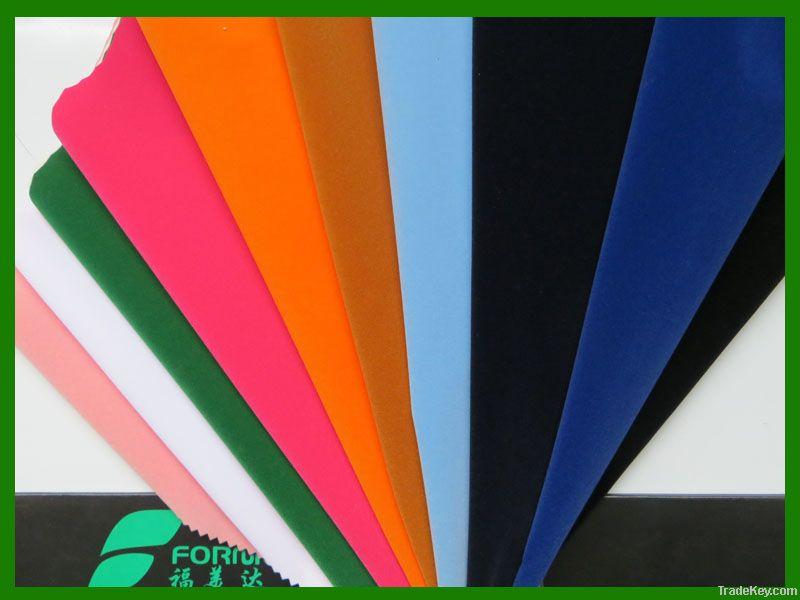 100%nylon flocking/ flocked fabric/ zeer velvet for package