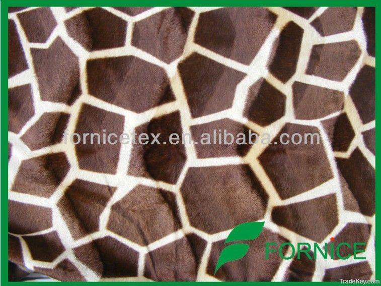optional design animal printed velboa fabric for sofa/ upholstery