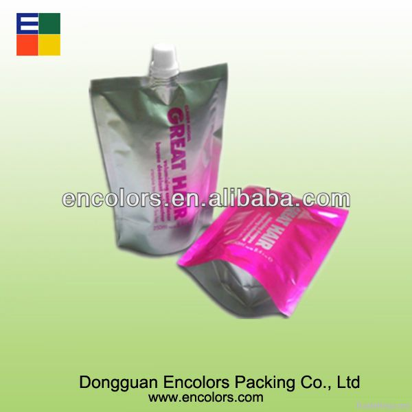 Stand up juice bag with spout