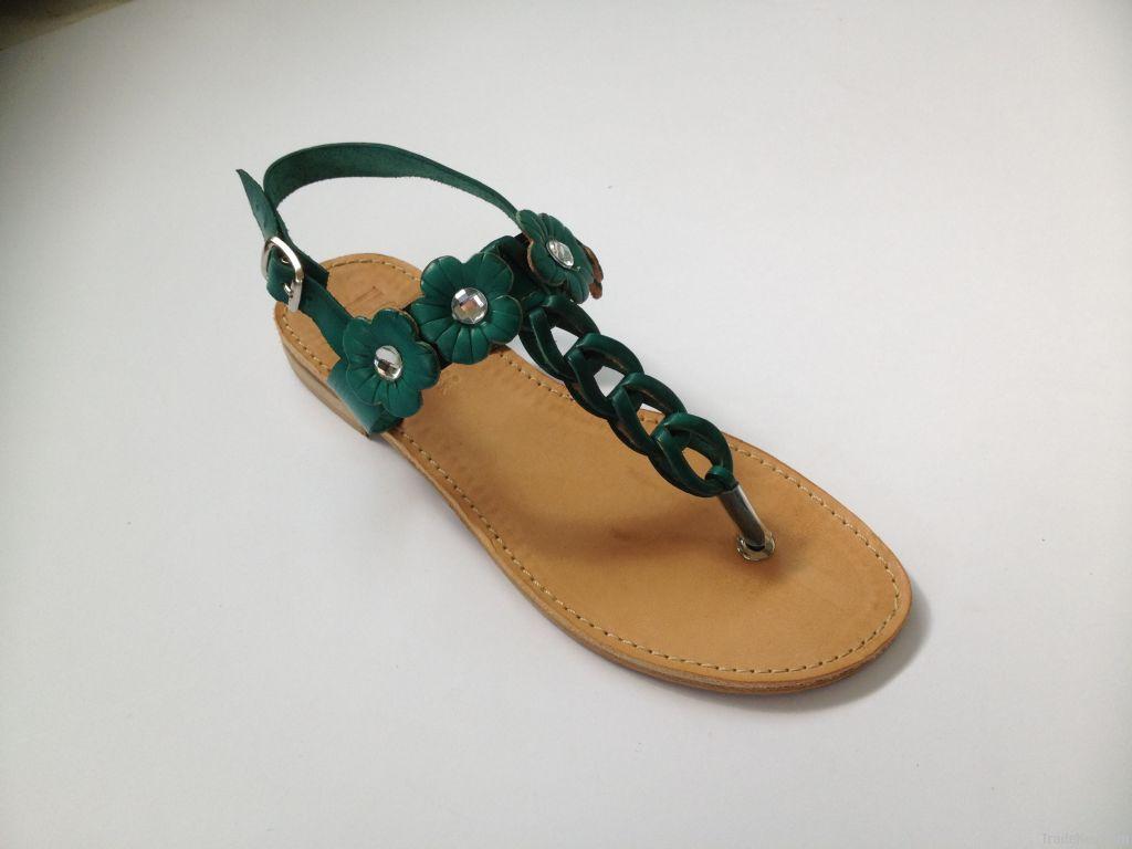 women leather sandal