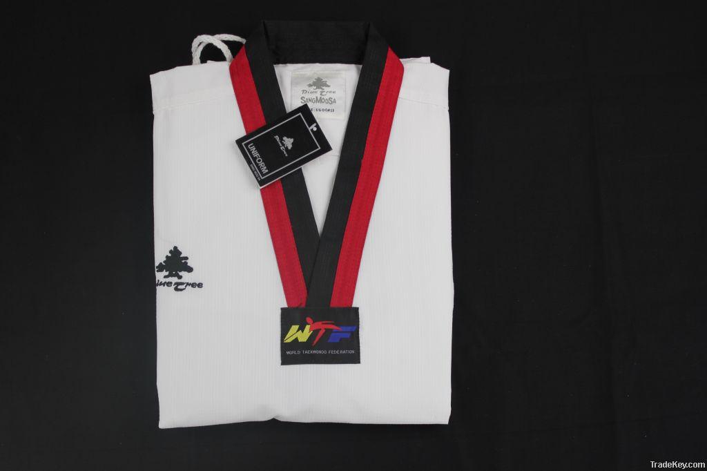 WTF approved Pine Tree poom collar taekwondo uniform