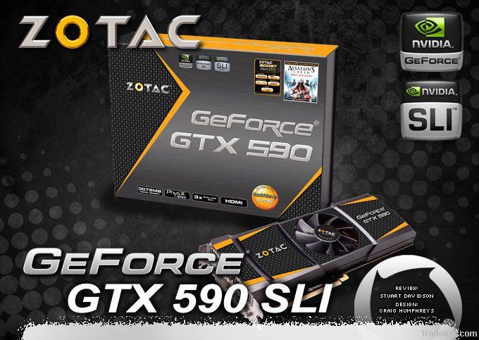 ZOTAC NVIDIA GeForce GTX 590 GTX590 Desktop Graphics Video Card