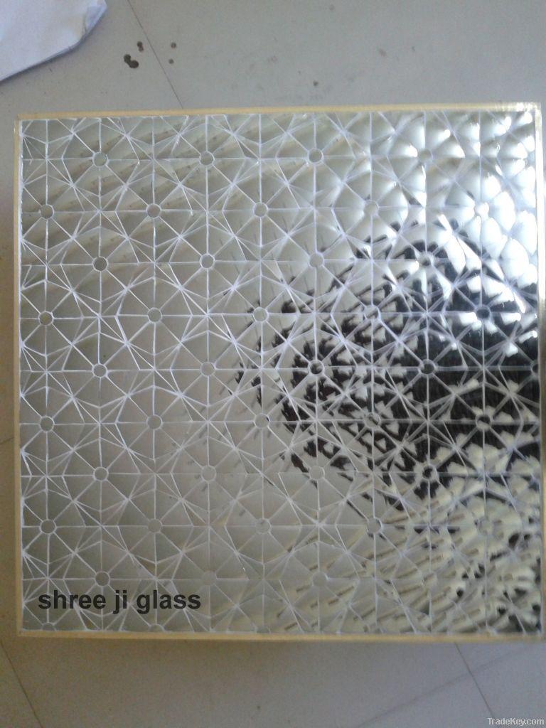 geomatrical glass panel