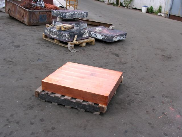 Copper slabs (plates)