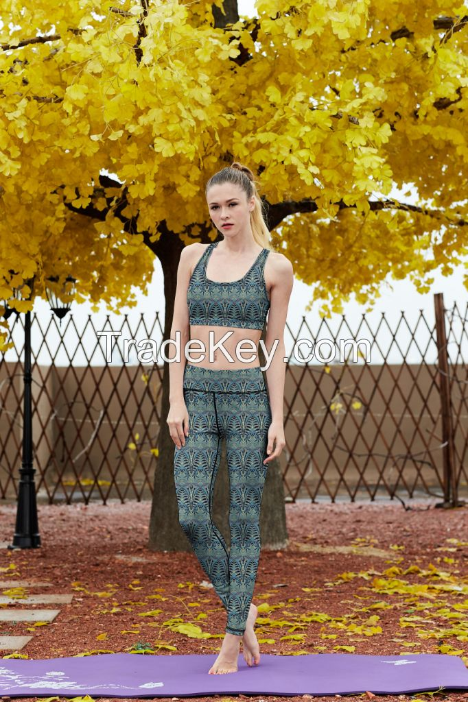 Four-way Stretch Yoga Activewear Great Stretch Sports Pants OEM Service Gym Tights For Women