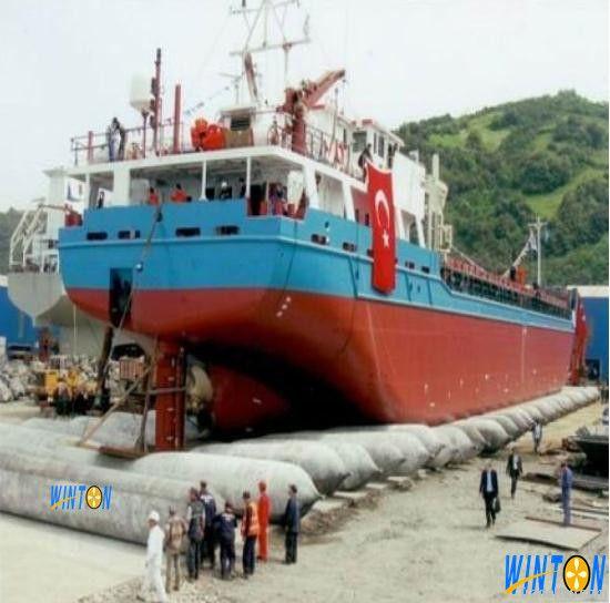 ship launching air bags