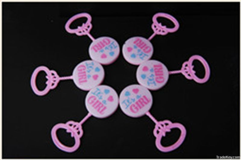 Baby rattle for party favor