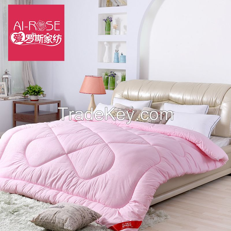 Soft and warn 100%microfibre filling quilt whole sale