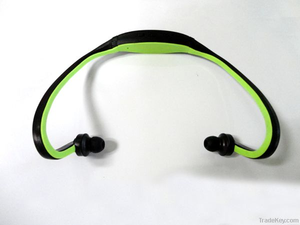 New Earphone Sports MP3 WMA Music Player Wireless Handsfree Headset Mi