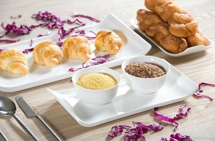 Porcelain ceramic crockery rice salad bowl dinner plate dinnerware set