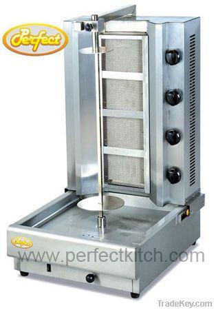Gas Doner Kebab Machine with 4 Burners