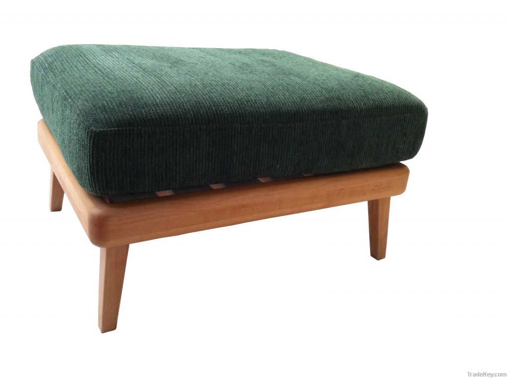 Ottomans with green cushion