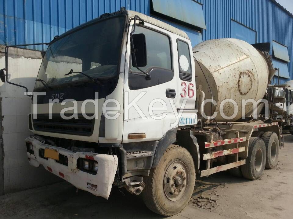 concrete mixer, used ISUZU 10 m3.