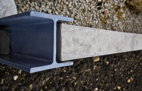 sleeper retaining wall steel posts galvanised   c/h sections