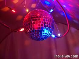 LED Disco Lighting Glass Mirror Ball