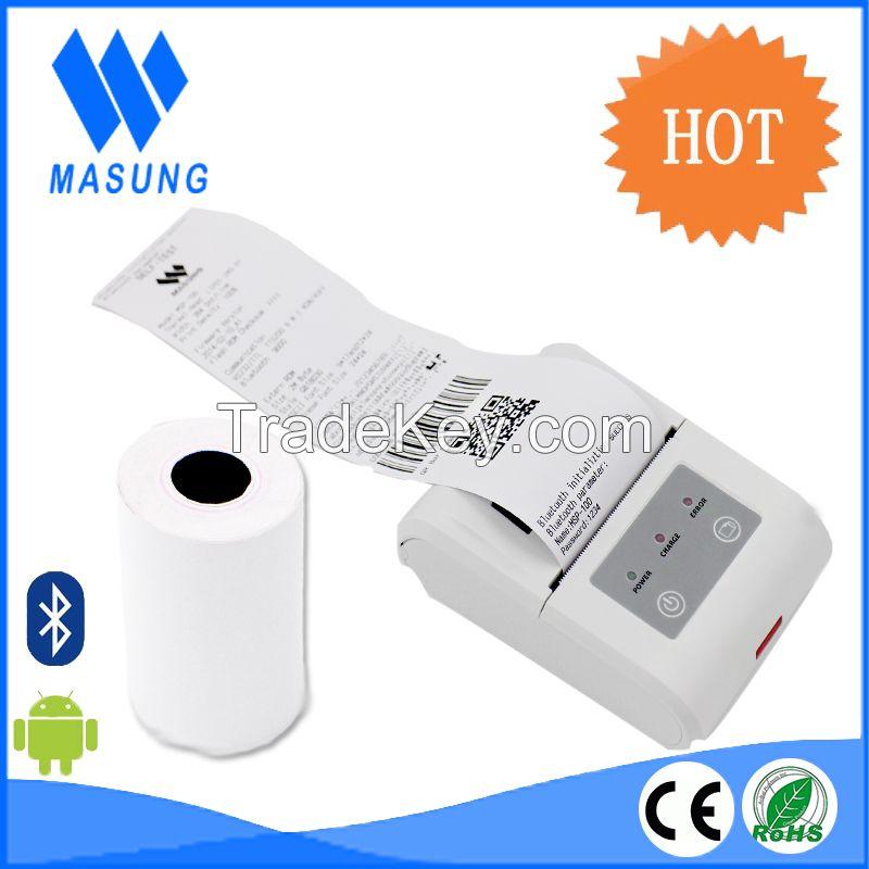 Portable mobile handheld bluetooth 58mm thermal printer for food order