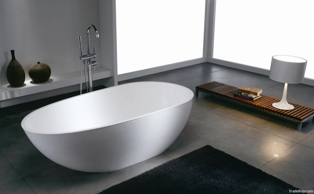 polymarble/solid surface bathtub