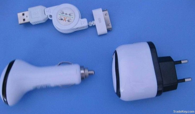 Universal car charger set for Iphone4/4s