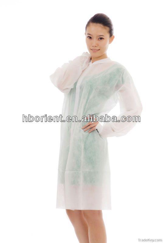 disposable nonwoven lab coat with Korean collar