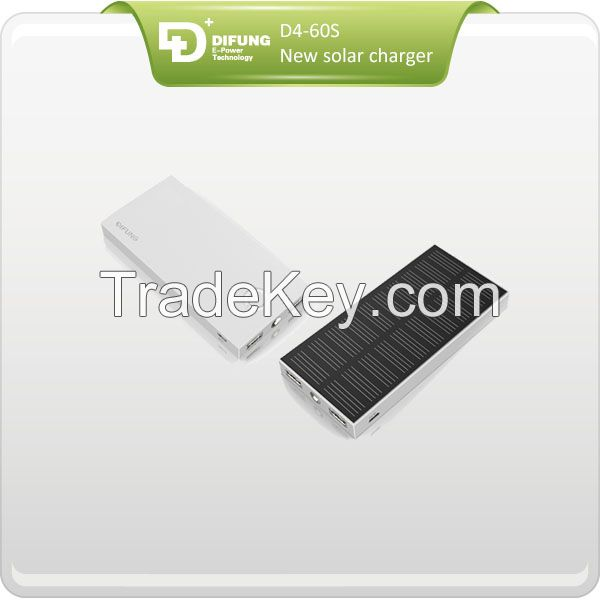 6000mAh solar charger with 1.25w high efficiency solar panel with CE , ROHS, FCC