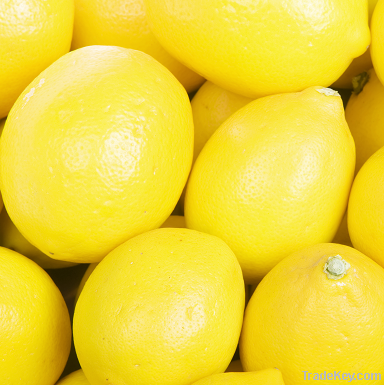 Fresh Yellow and Green Lemons