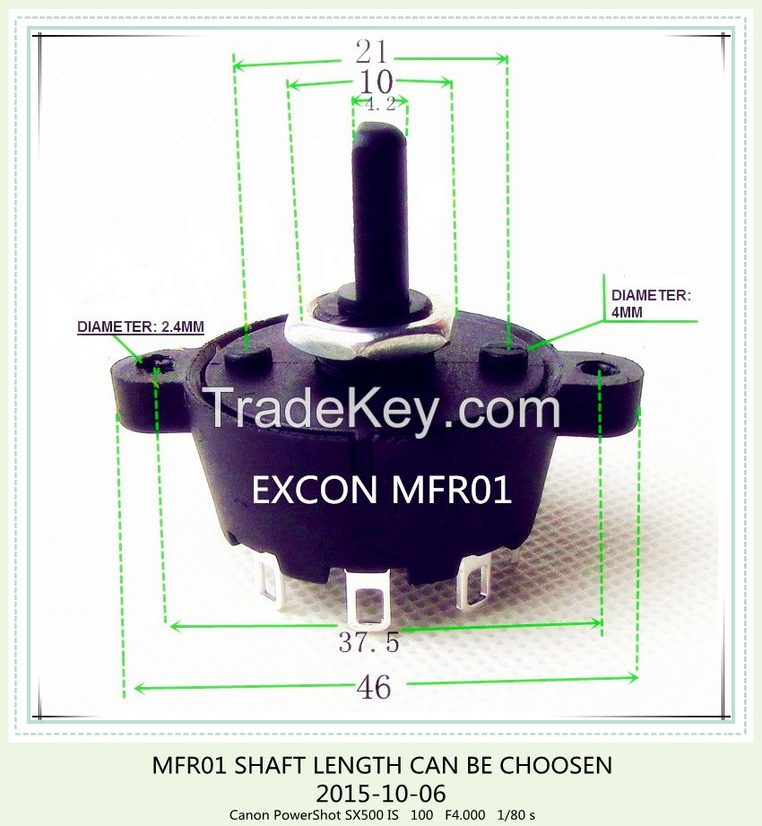 MFR01 ROTARY SWITCH WITH 36 DEGREE