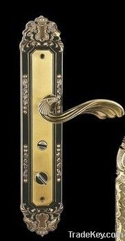zinc alloy handle lock with different plating
