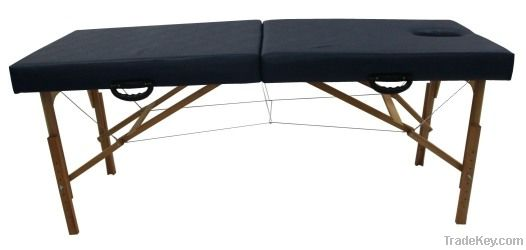Wooden massage therapy table