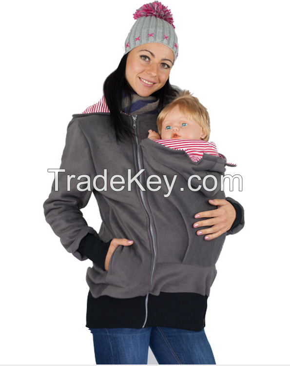 2016 hot sale plain 100%combed cotton baby carrier hoody loading/baby clothes/baby wear