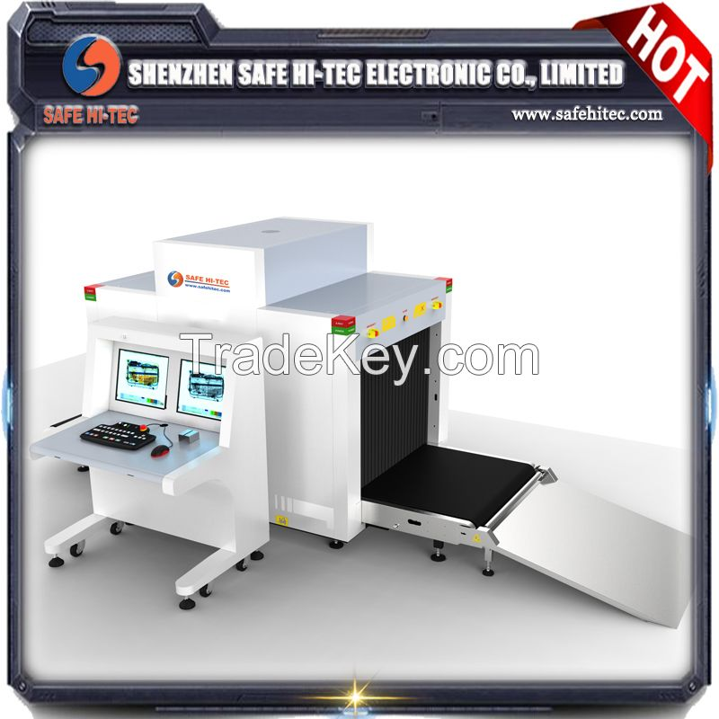 SA10080 X ray luggage Inspection System and x-ray scanning baggage, parcel machine