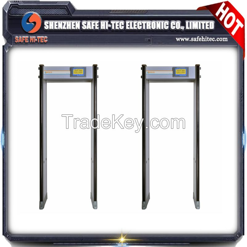 SA-300S 33 zones Walk Through Metal Detectors Door frame archway metal detector price