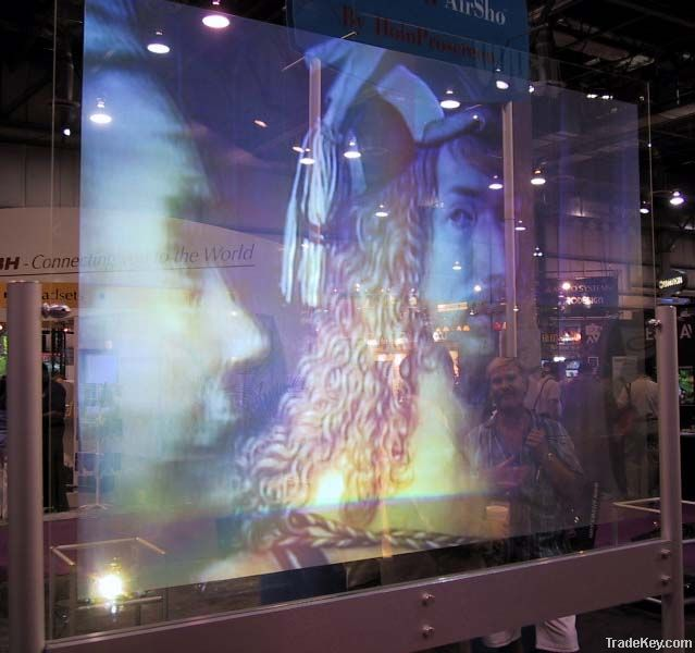 High Contrast Holographic Rear Projection Screen