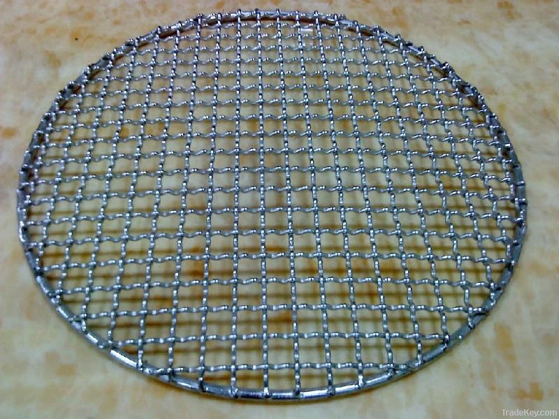round stainless steel barbecue grill netting