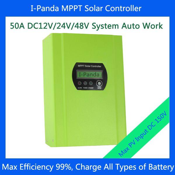 50A Solar Charge Controller Regulator, 12V/24V/48V Auto Distinguish+LCD display