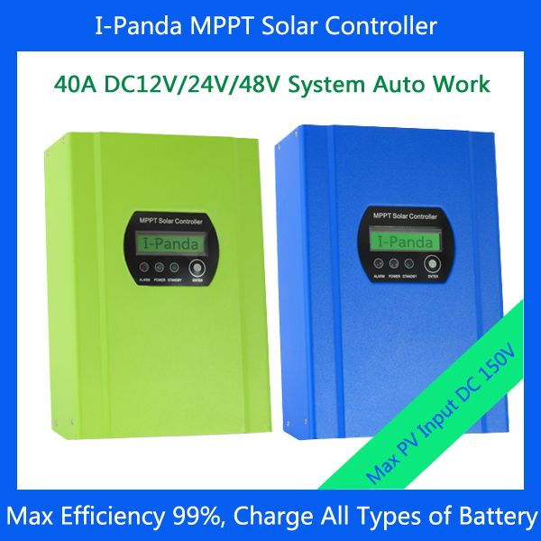 40A 12V/24V/48V Intelligent MPPT Solar Charge Controller for Increasing Module Efficiency 30%-60% with CE, RoHS Certificates