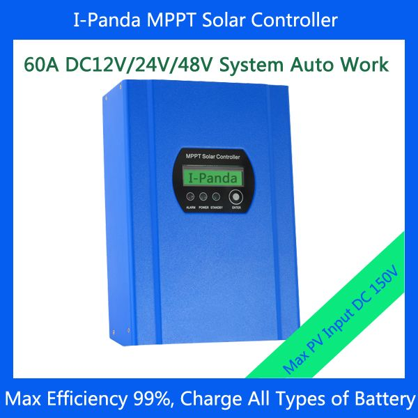 48V 60A MPPT Solar Charge Controller, 48V 60A solar charge controller with Max Power Point Tracking (MPPT)
