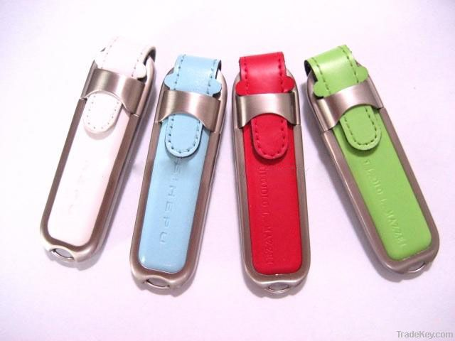 Factory supply leather usb flash drives with your logo free