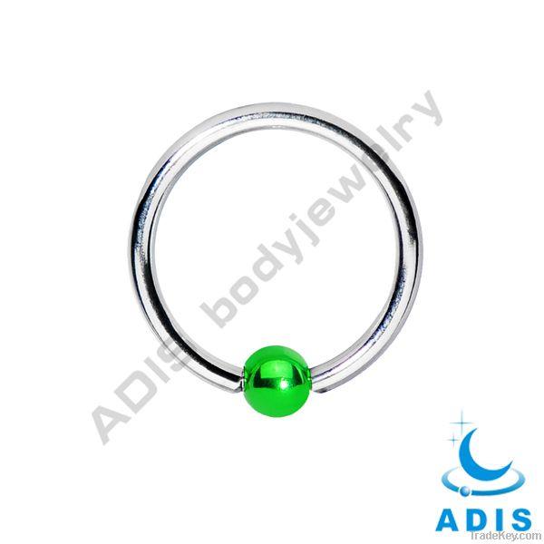 green ball captive fashion body jewelry piercing bcr