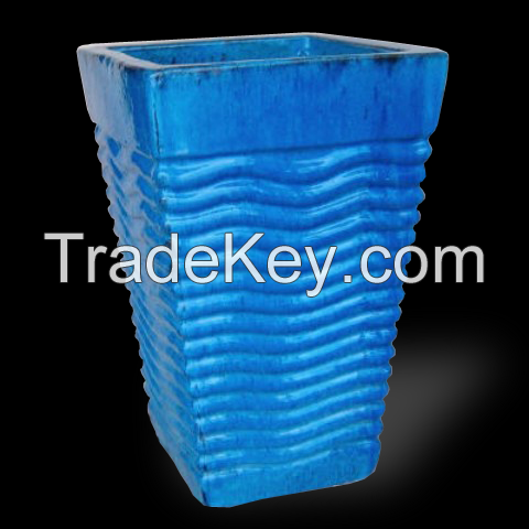Ceramic Vase For Garden Pots Blue
