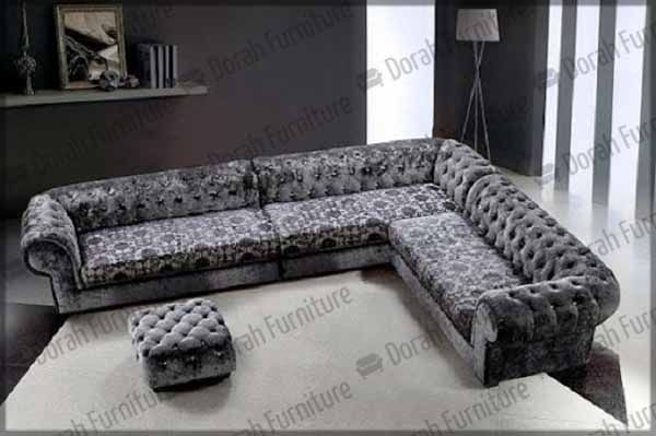 Sectional Contemporary Sofa With Ottoman 4-pieces